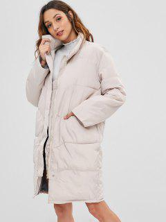 Padded Straight Puffer Coat - Apricot L