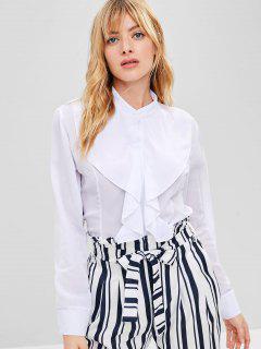 Chemise Boutonnée à Volants - Blanc M