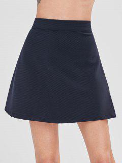 Mini Falda Flare De Color Sólido - Azul De Pizarra Oscuro S