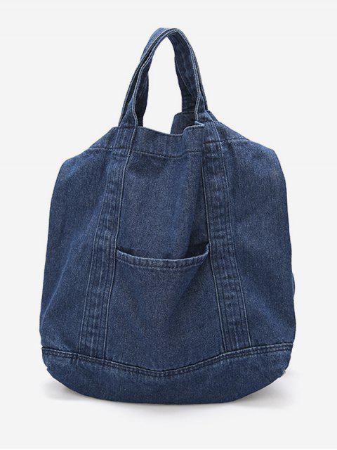 women Cowboy Jeans Style Handbag - DARK SLATE BLUE  Mobile