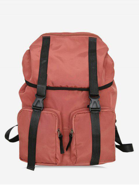 women String Design Waterproof School Backpack - CHESTNUT RED  Mobile