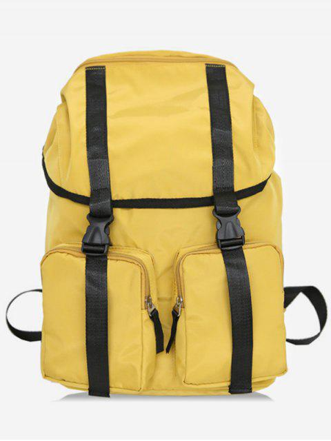 lady String Design Waterproof School Backpack - SUN YELLOW  Mobile