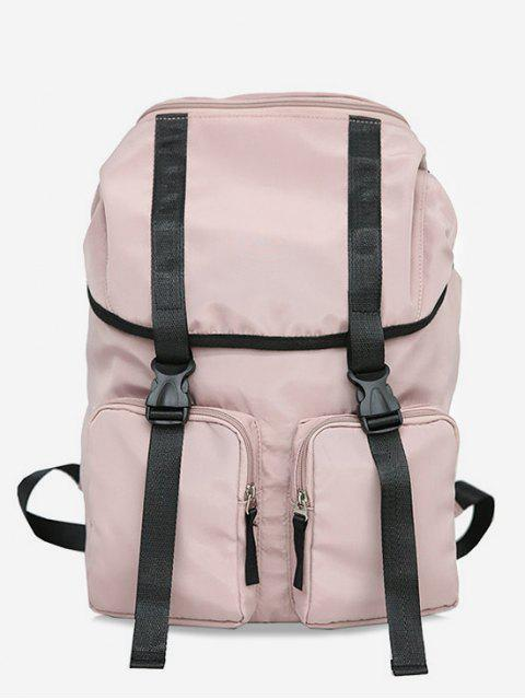 shops String Design Waterproof School Backpack - LIGHT PINK  Mobile