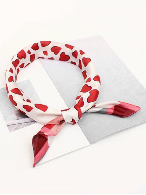 online Sweetheart Printing Elegant Scarf - RED  Mobile