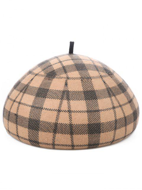 online Retro Tartan Pattern Beret - PEACH  Mobile