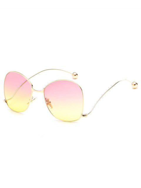 sale Novelty Metal Frame Bent Legs Sunglasses - YELLOW  Mobile