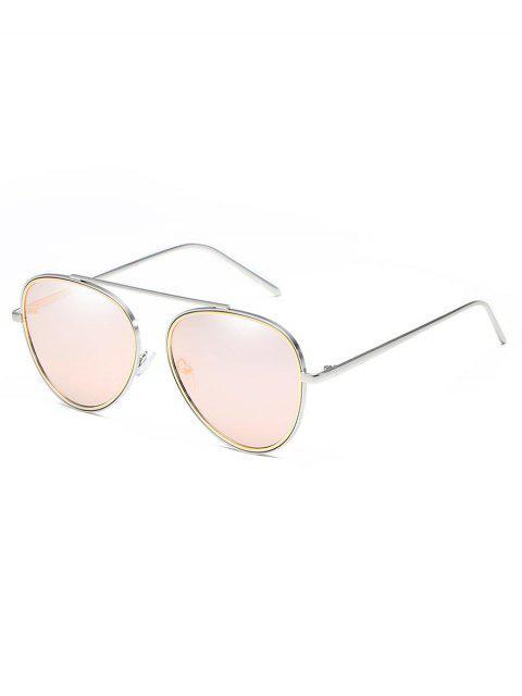 outfit Crossbar Metal Frame Pilot Sunglasses - LIGHT PINK  Mobile