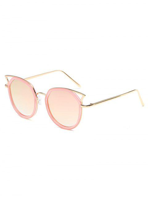 lady Anti Fatigue Hollow Out Metal Frame Sunglasses - LIGHT PINK  Mobile
