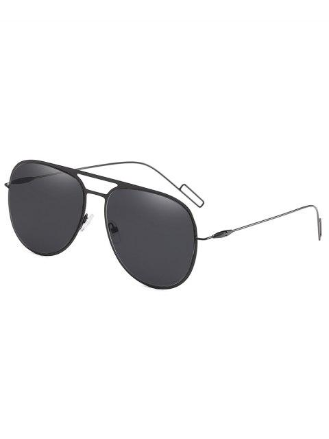 shops Metal Frame Crossbar Novelty Sunglasses - BLACK  Mobile