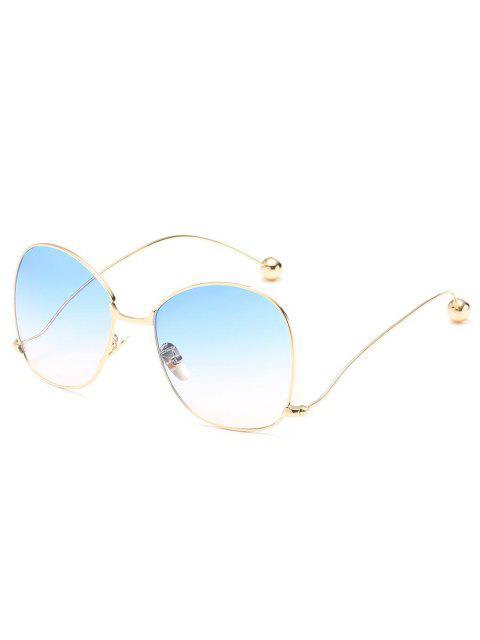 latest Novelty Metal Frame Bent Legs Sunglasses - LIGHT SKY BLUE  Mobile