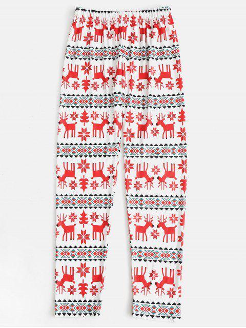 buy Elk Snowflake Family Chirstmas Pajamas - RED KID 12T Mobile