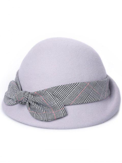 affordable Vintage Bowknot Lace Cloche Hat - GRAY GOOSE  Mobile