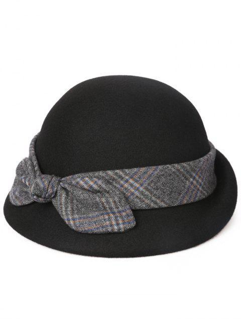 online Vintage Bowknot Lace Cloche Hat - BLACK  Mobile