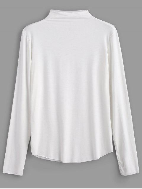 outfit High Neck Long Sleeve T-shirt - WHITE ONE SIZE Mobile