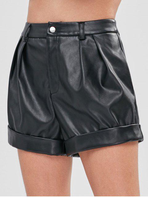 ZAFUL Short à Coupe Haute en Faux Cuir - Noir XL Mobile