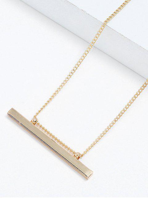 best Alloy Bar Shape Pendant Necklace - GOLD  Mobile