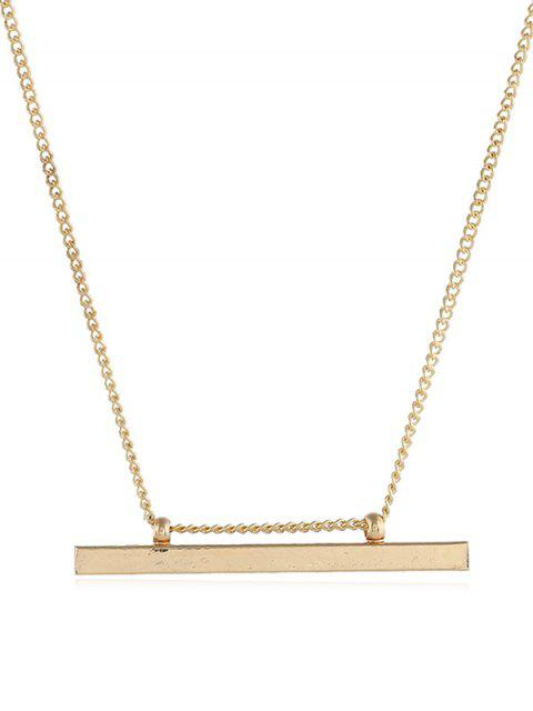 best Alloy Bar Shape Pendant Necklace - GOLD  Mobile