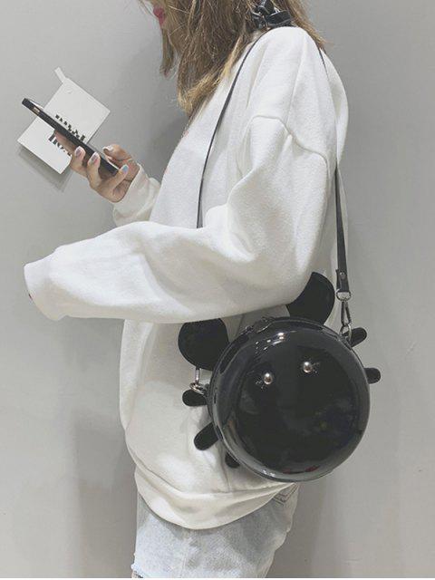 online Cartoon Round Shape Mini Crossbody Bag - BLACK  Mobile
