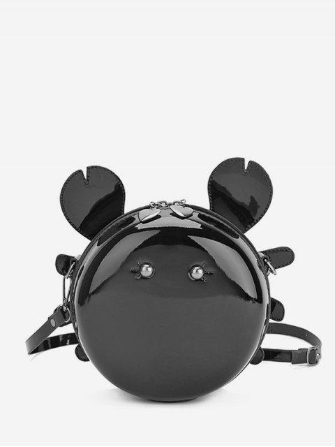 online Cartoon Round Shape Mini Crossbody Bag - BLACK  Mobile