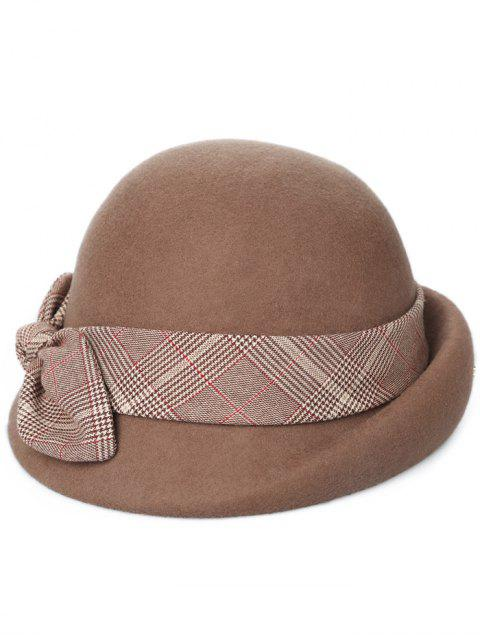 affordable Vintage Bowknot Lace Cloche Hat - BROWN  Mobile
