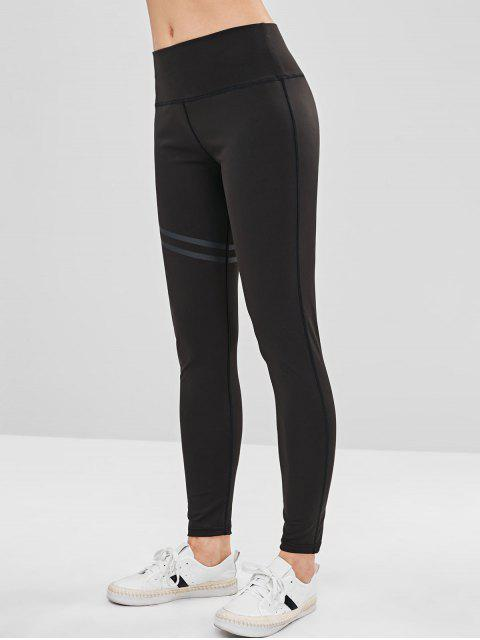 shop Stitching Yoga Leggings - BLACK XL Mobile