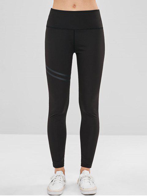 shops Stitching Yoga Leggings - BLACK S Mobile
