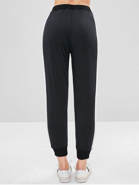 outfits Stripes Panel Sport Pants - BLACK L Mobile