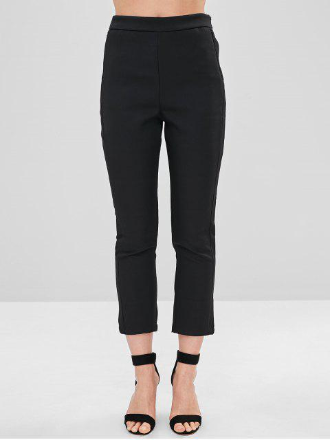 lady Peg Leg Ankle Pants - BLACK M Mobile