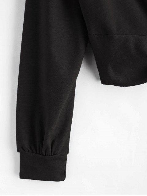 ZAFUL Twist Front Plain Sweatshirt - Negro XL Mobile
