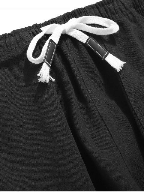 Pantalon de jogging à rayures latérales - Noir 2XL Mobile
