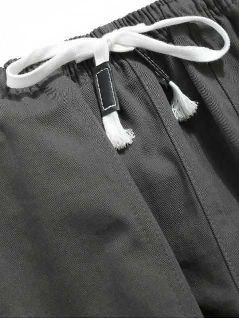 Pantalon de jogging à rayures latérales - Cendre gris XL Mobile