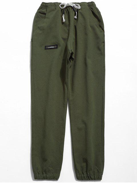outfit Solid Elastic Waist Jogger Pants - ARMY GREEN 2XL Mobile