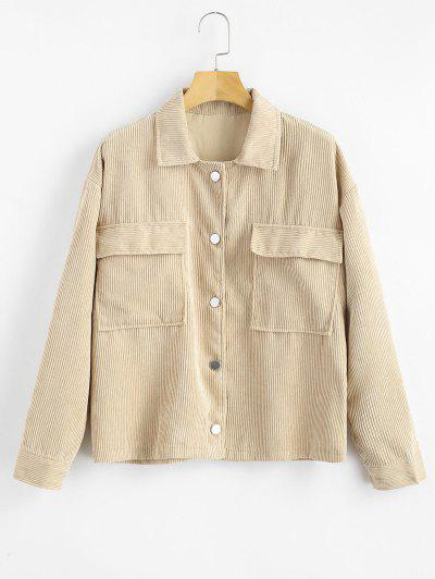 Image of Buttoned Corduroy Jacket