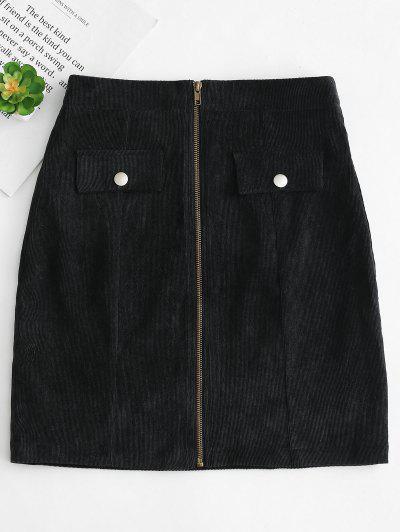 a5a09cf272c Front Zip Corduroy Skirt - Black M