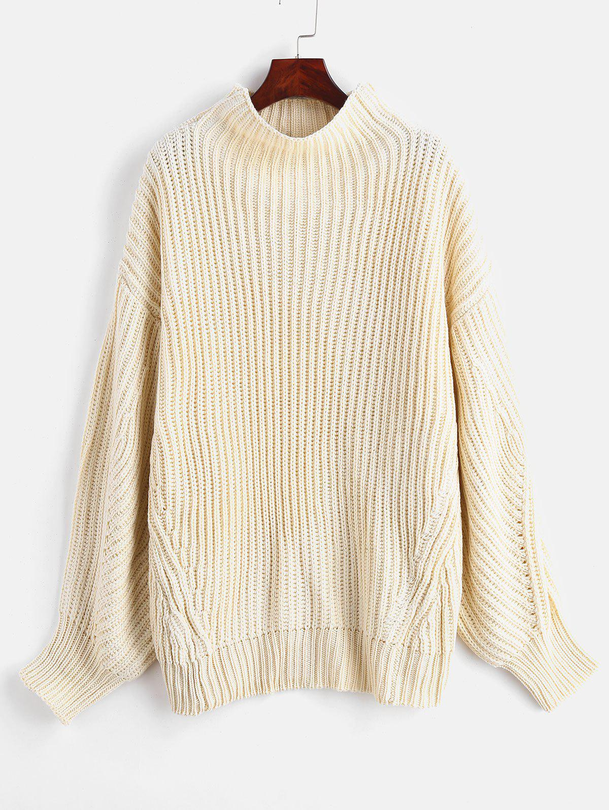 ZAFUL Mock Neck Oversized Sweater