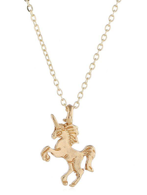 Unicorn Shape Animal Drop Necklace фото