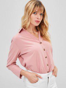قميص Flowy - فلامنغو وردي S