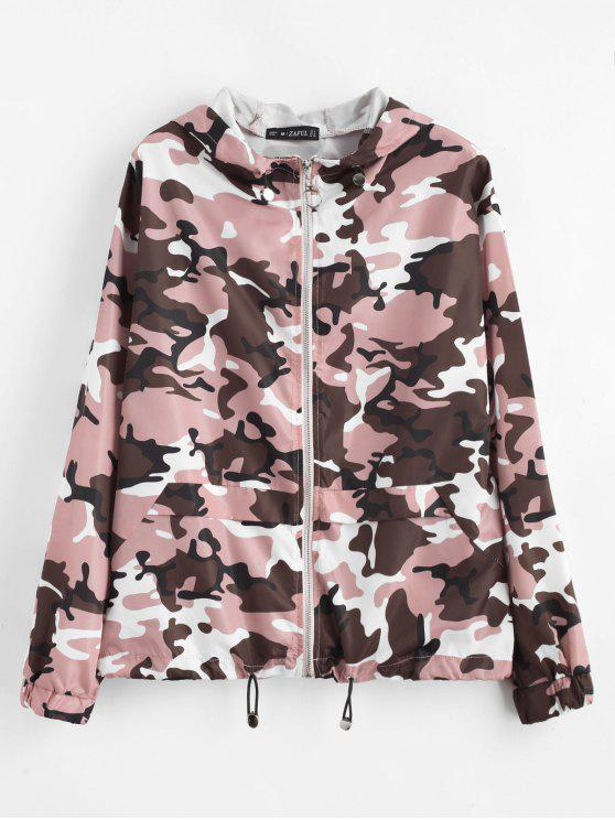 outfit ZAFUL Zip Up Camouflage Hooded Windbreaker - ACU CAMOUFLAGE S