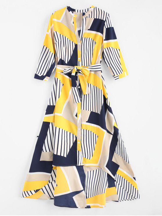 Listra Patchwork Alta Low Dress - Multi XL