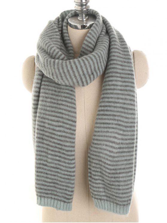 chic Stylish Striped Winter Long Scarf - LIGHT SLATE GRAY