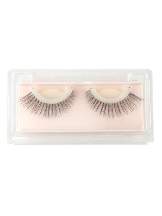 outfit Cosmetic Natural Long Handmade False Eyelashes - BLACK
