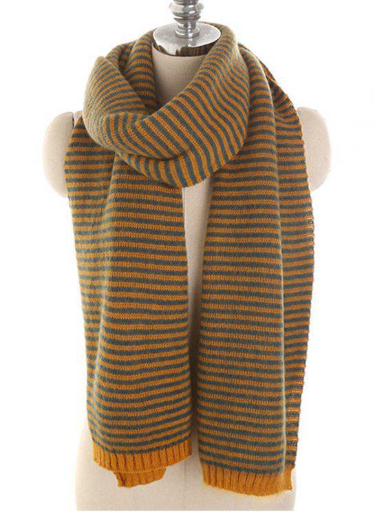 chic Stylish Striped Winter Long Scarf - ORANGE GOLD