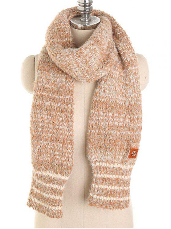 shops Striped Winter Shawl Scarf - APRICOT