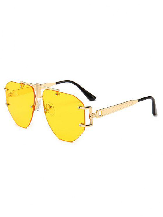 affordable Punk Alloy Rimless Sunglasses - YELLOW