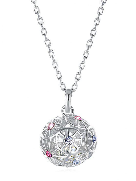 lady Ball Design Rhinestone Pendant Necklace - MULTI-A
