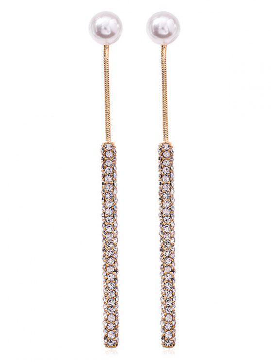 best Faux Pearl Decoration Long Drop Earrings - GOLD