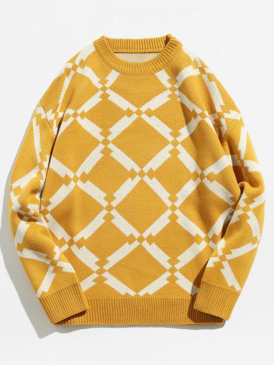 Maglione Pullover Geometrico - Giallo M