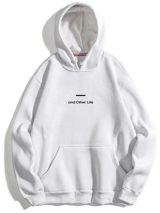 affordable Letter Soft Fleece Hoodie - WHITE L