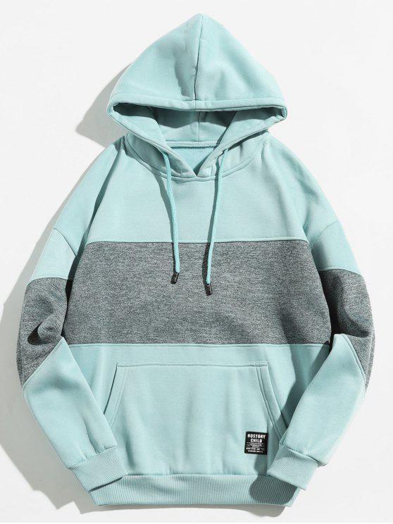 sale Drop Shoulder Panel Hoodie - LIGHT BLUE XL