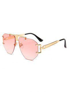 Punk Alloy Rimless Sunglasses - Pink